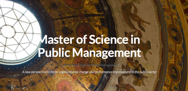 Laurea Magistrale in Public Management