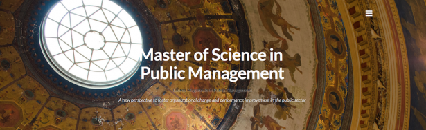 Master of Science (Laurea Magistrale) in Public Management