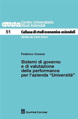 Sistemi di governo e di valutazione della performance per l'azienda Università