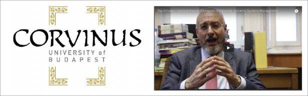 Top Scholars series: Prof. Bianchi Interviewed by Corvinus University of Budapest